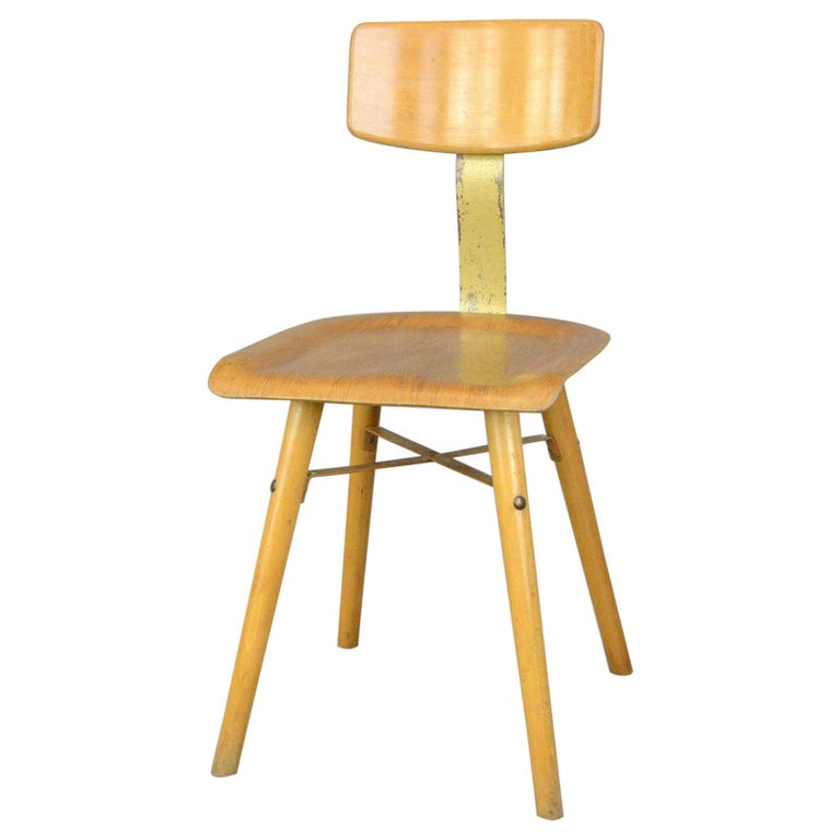 Industrial Work Stool By Ama, circa 1930s For Sale