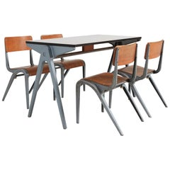 Industrial Writing Desk Table with Chairs for Kids by James Leonard for Esavian