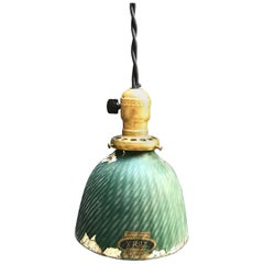 Industrial X-Ray Mercury Glass Dome Pendant Light