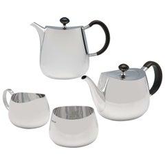 Industrialist Design 'Pride Pattern' Sterling Silver Tea Set, David Mellor, 1967