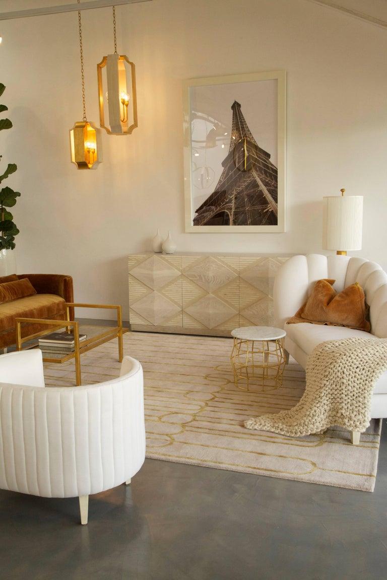 Modern Ines Buffet Cabinet Bleached White Oak For Sale