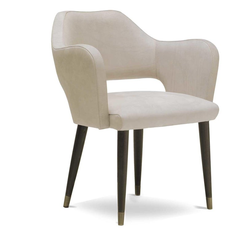 Italian Ines Chair with Armrest by Ulivi Salotti For Sale