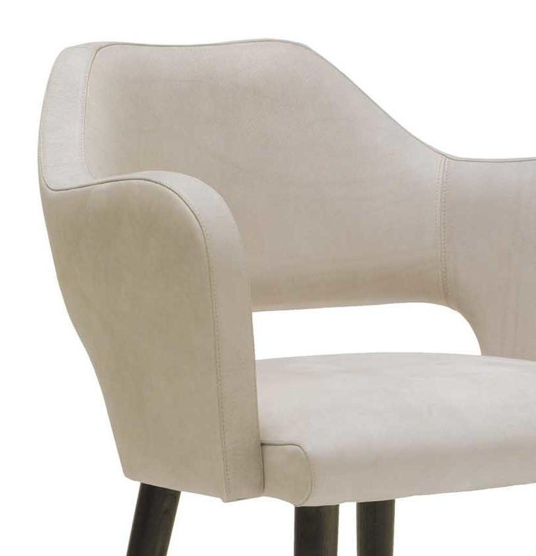 Ines Chair with Armrest by Ulivi Salotti In New Condition For Sale In Milan, IT