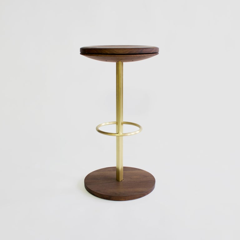 Inez Modern Brass Barstool Or Counter Stool With Swivel