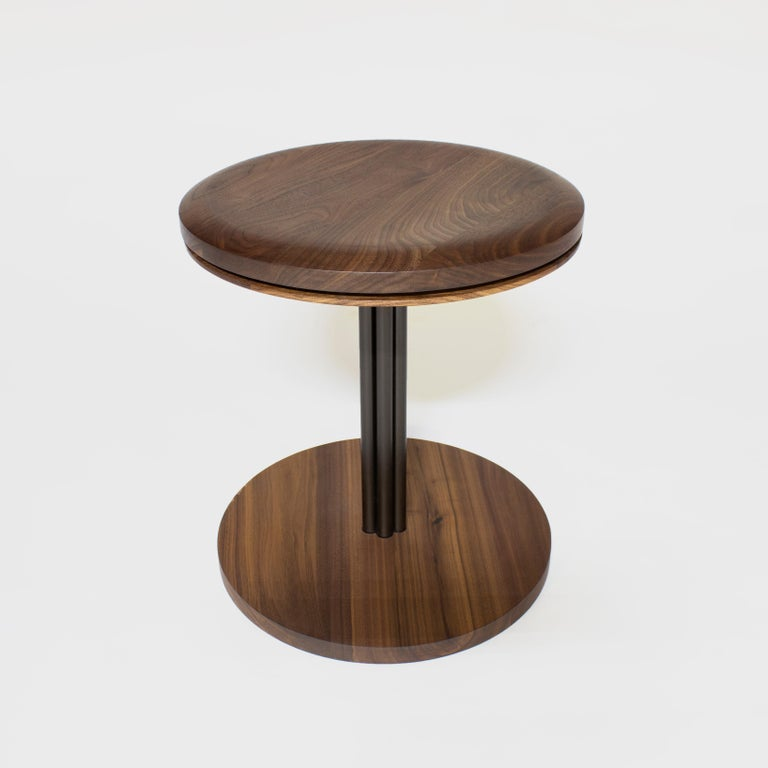American Inez Modern Chair and Stool with Swivel For Sale
