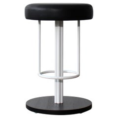 Inez Modern Counter Stool with Upholstered Leather Seat by Crump and Kwash