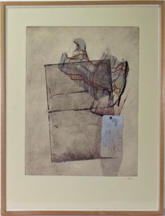 """""""Diagrams"""" Monotype with collage"""