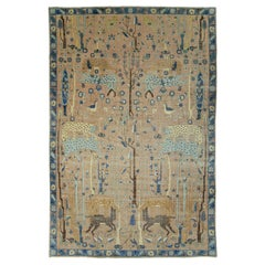 Infamous Early 20th Century Teodor Tuduc Forged Jungle Paradise Park Rug