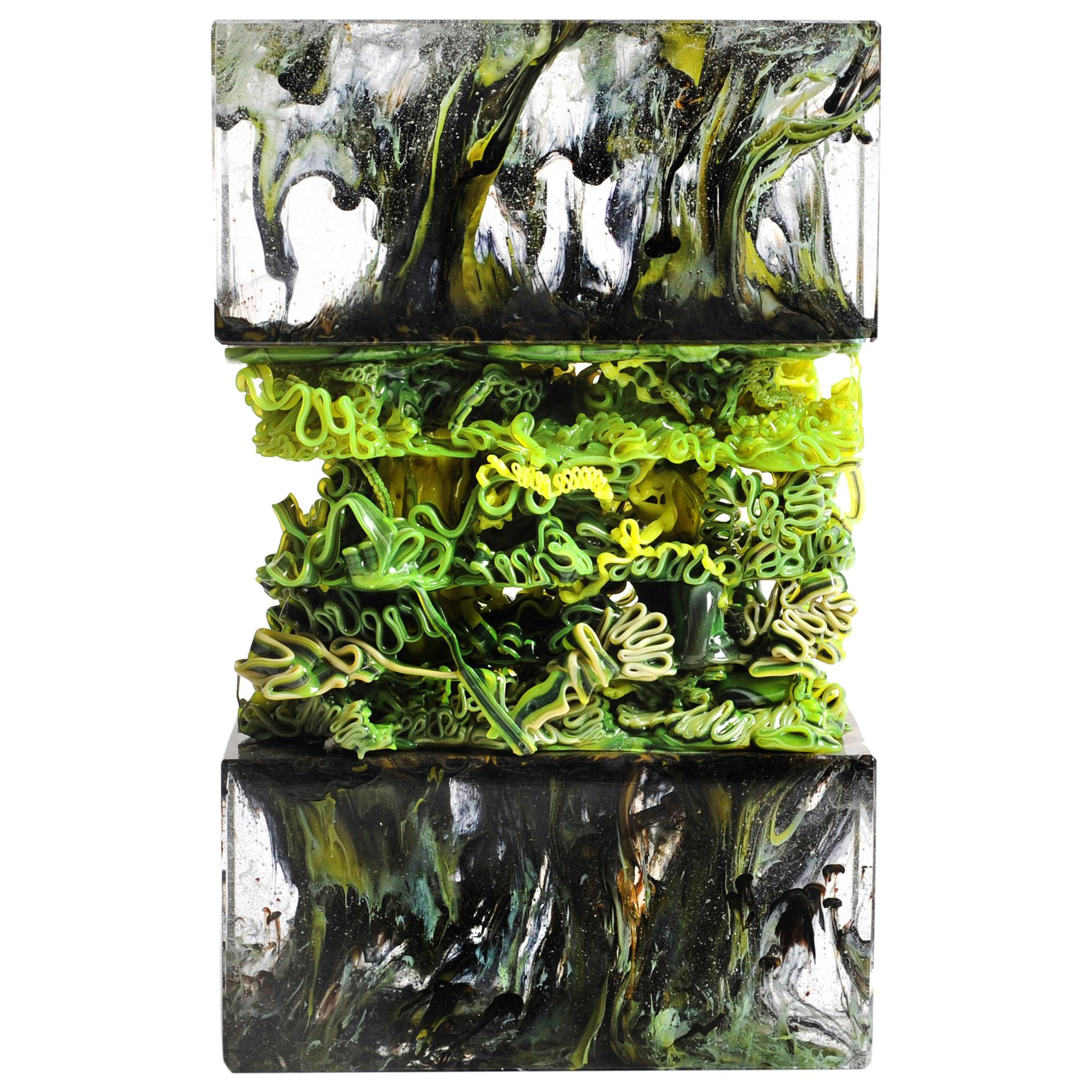 Infected Phlem Sculpture Glass vs. Plastic Collection