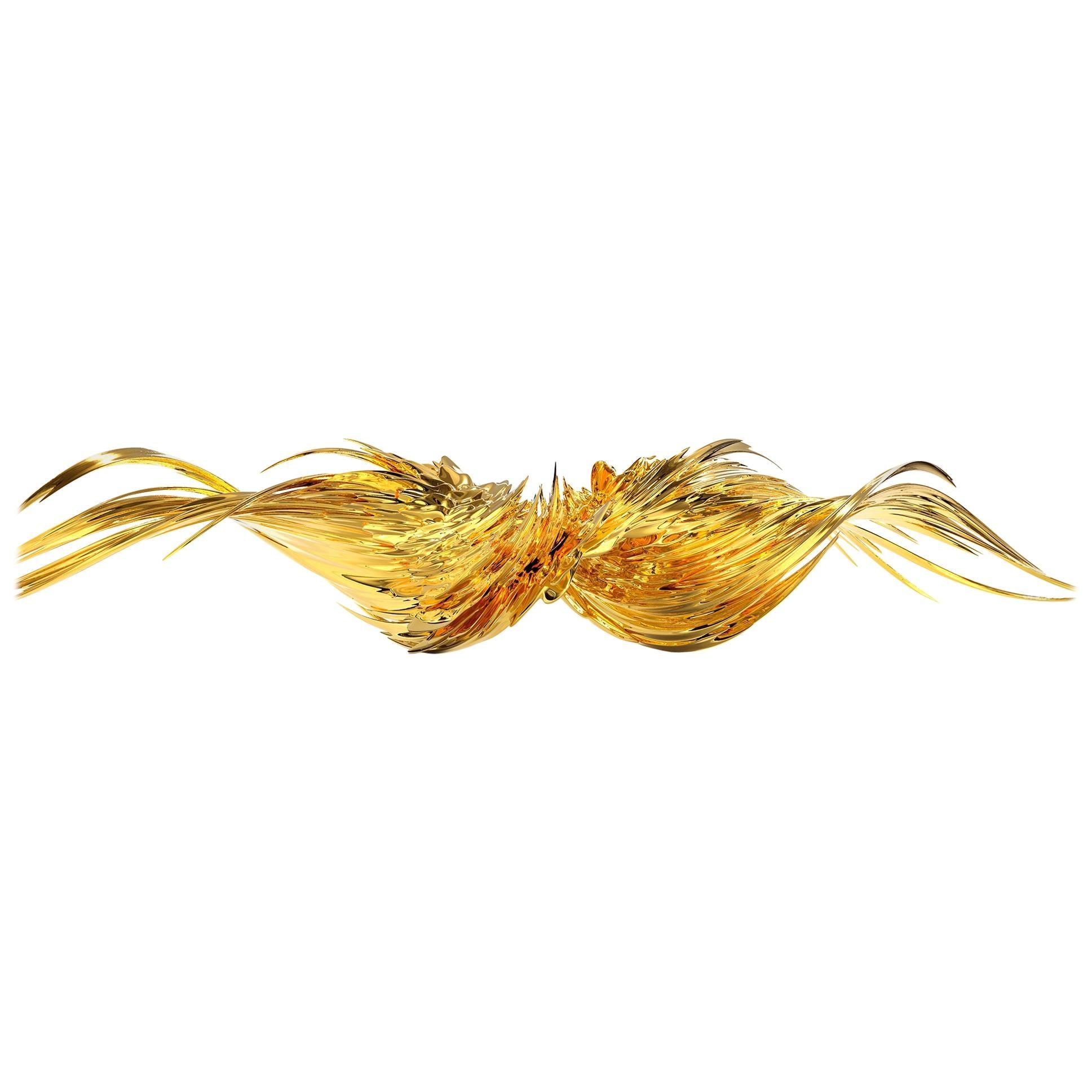 Infernum Abstract Golden Sculpture
