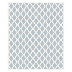 Infinito, Modern Bedroom Hand-Knotted Wool Blend-Silk Rug