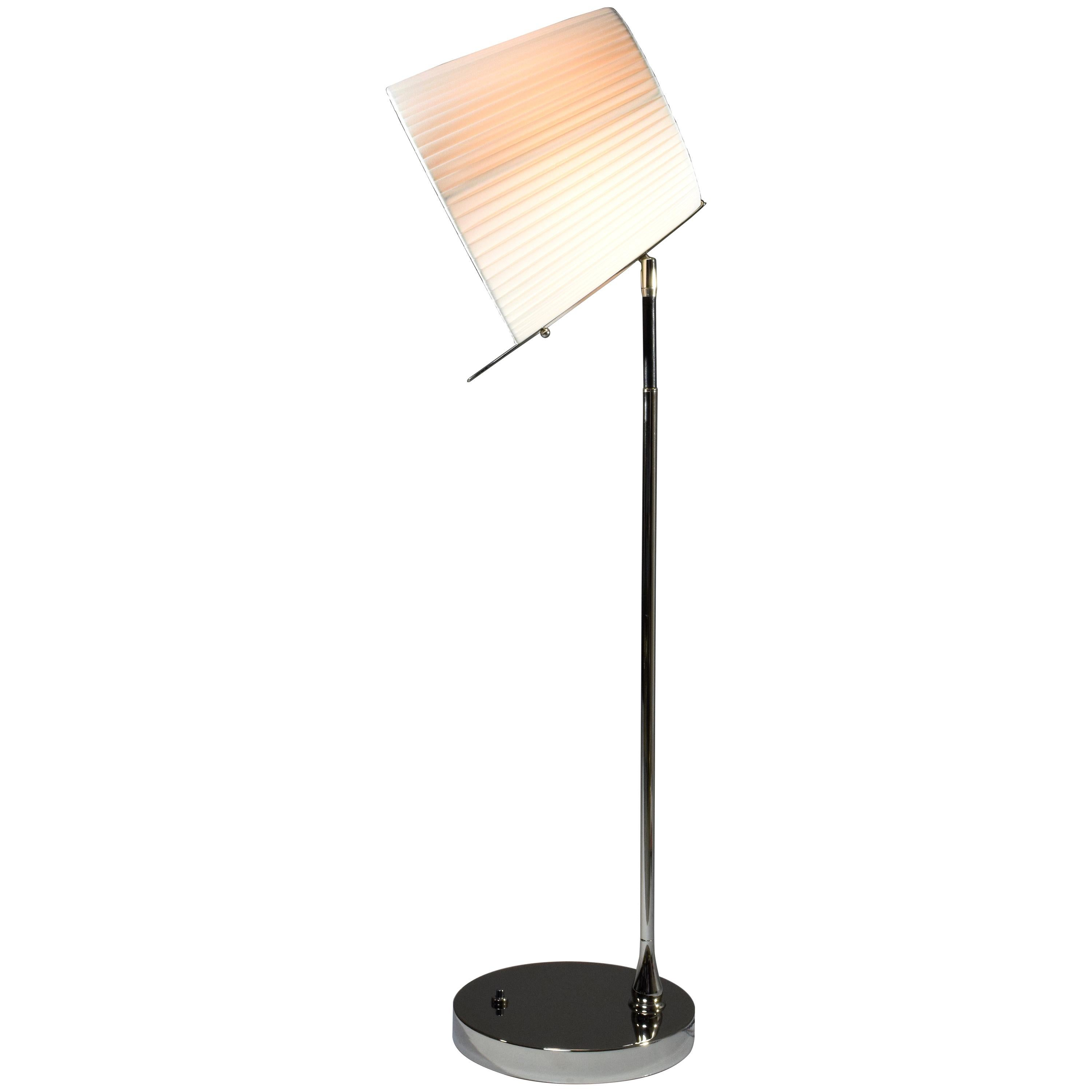 Infinitus-I Contemporary Tall Brass Table Lamp