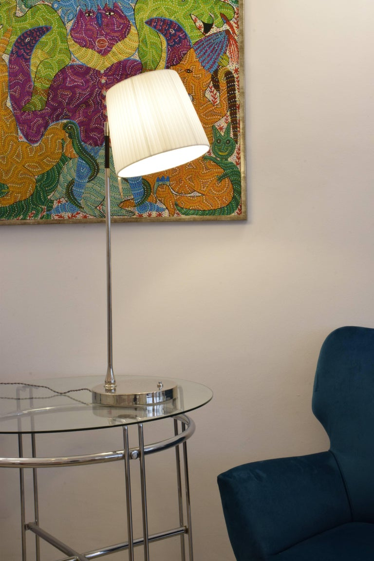 Modern Infinitus-I Contemporary Tall Brass Table Lamp For Sale