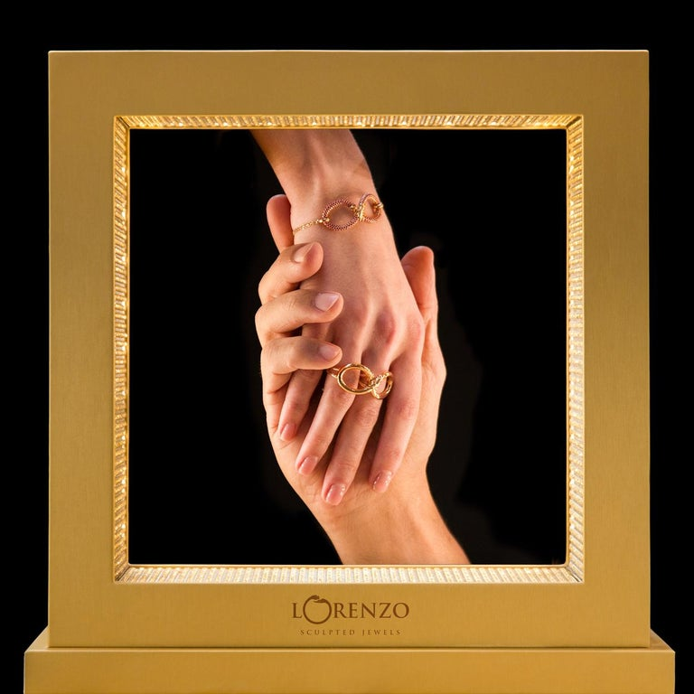 Women's Infinity 18 Carat Rose Golden Bracelet by Lorenzo Quinn For Sale