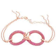 Infinity 18 Carat Rose Golden Bracelet by Lorenzo Quinn