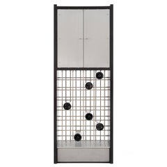 Handmade Modern Wine Cabinet with Industrial Metal Concrete and Wood