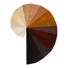 """""""Infinity"""" in """"Earthtones"""" by Rhyme Studio Wool Beige to Browns Rug or Tapestry"""