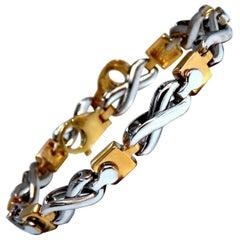 Infinity Link Gold Bracelet 14 Karat