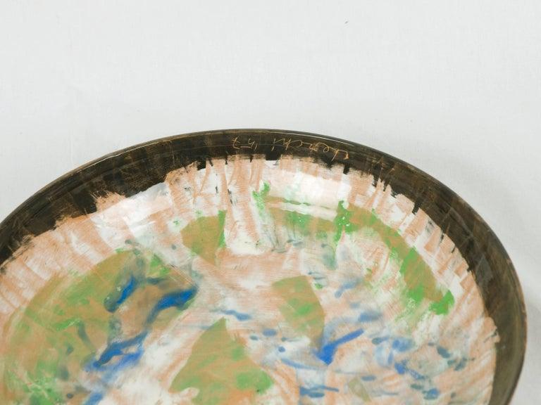 Mid-Century Modern Informal Ceramic Plate by Sandro Cherchi for Ceramiche S. Giorgio, 1957 For Sale