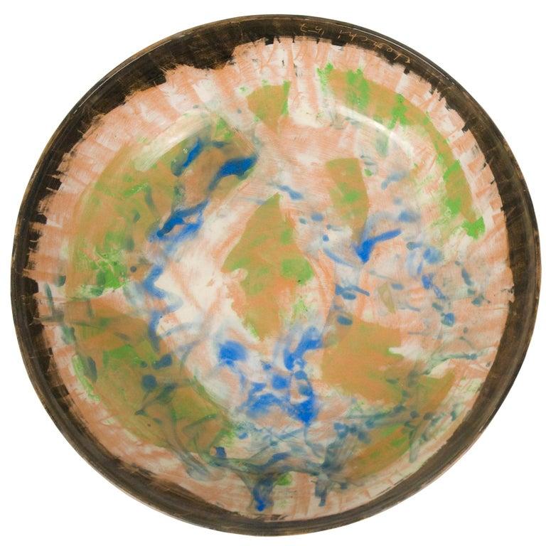 Informal Ceramic Plate by Sandro Cherchi for Ceramiche S. Giorgio, 1957 For Sale