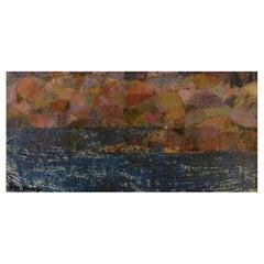 Inga Hense '1919-1999', Sweden, Oil on Board, Modernist Landscape, 1960s