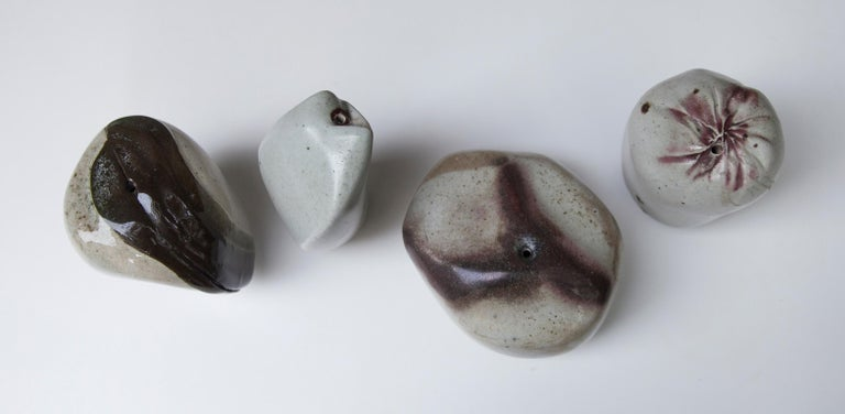 Mid-Century Modern Ingeborg and Bruno Asshoff Ceramic Stone Objects For Sale