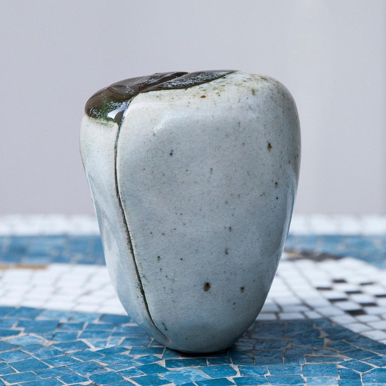 German Ingeborg and Bruno Asshoff Ceramic Stone Objects For Sale