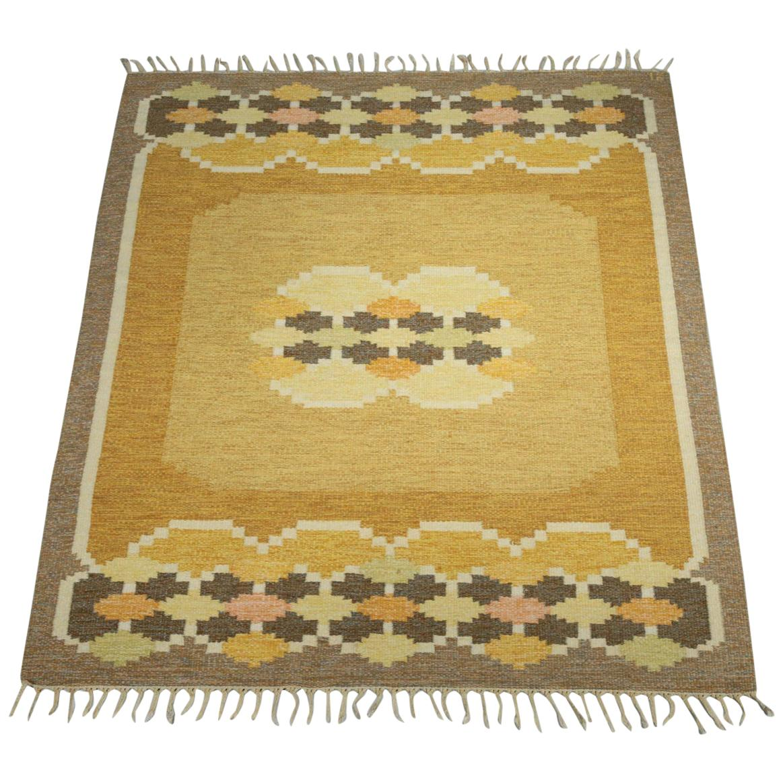Ingegerd Silow Carpet Flat-Weave, Swedish Rug
