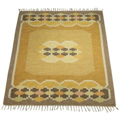 Ingegerd Silow Carpet Flat-Weave, Swedish Rug