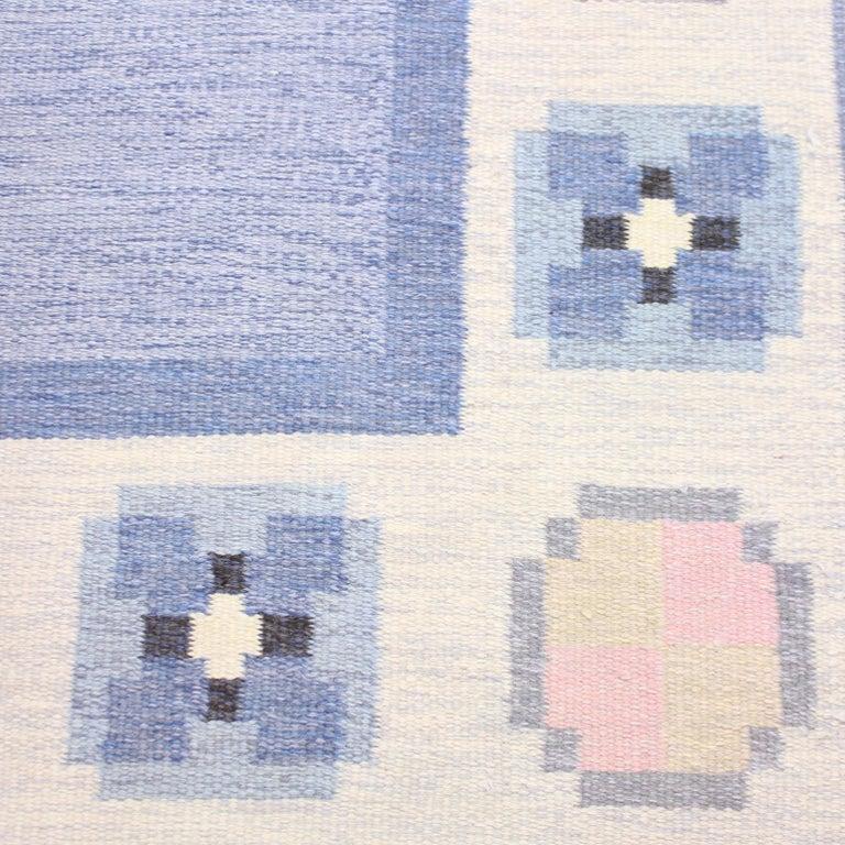 Swedish Ingegerd Silow, Flat Weave Röllakan Carpet, 1950s For Sale