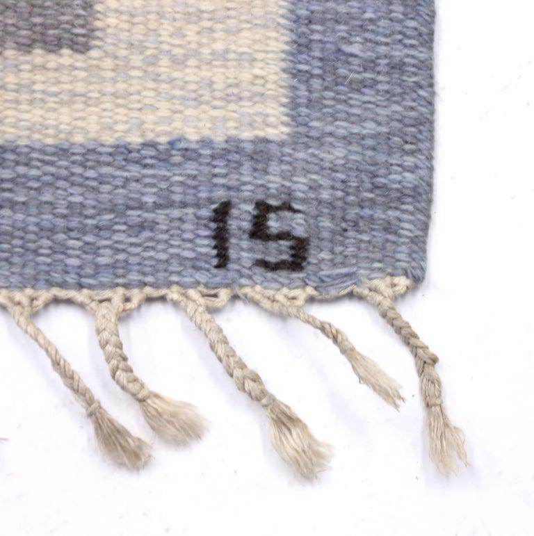 Ingegerd Silow, Flat Weave Röllakan Carpet, 1950s In Good Condition For Sale In Uppsala, SE