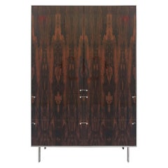 Ingemar Cabinet, Tall 'or Dining Hutch or High Boy' in Ziricote and Nickel