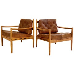 Ingemar Thillmark Lacko Buffalo Hide Lounge Chairs