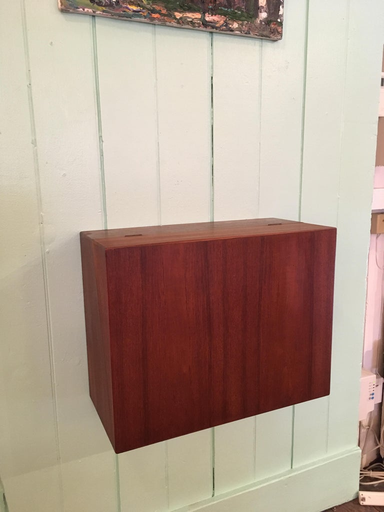 Ingenious and Rare P. Jensen & Knud Frandsen Wall Hanging Toilette Cabinet For Sale 3