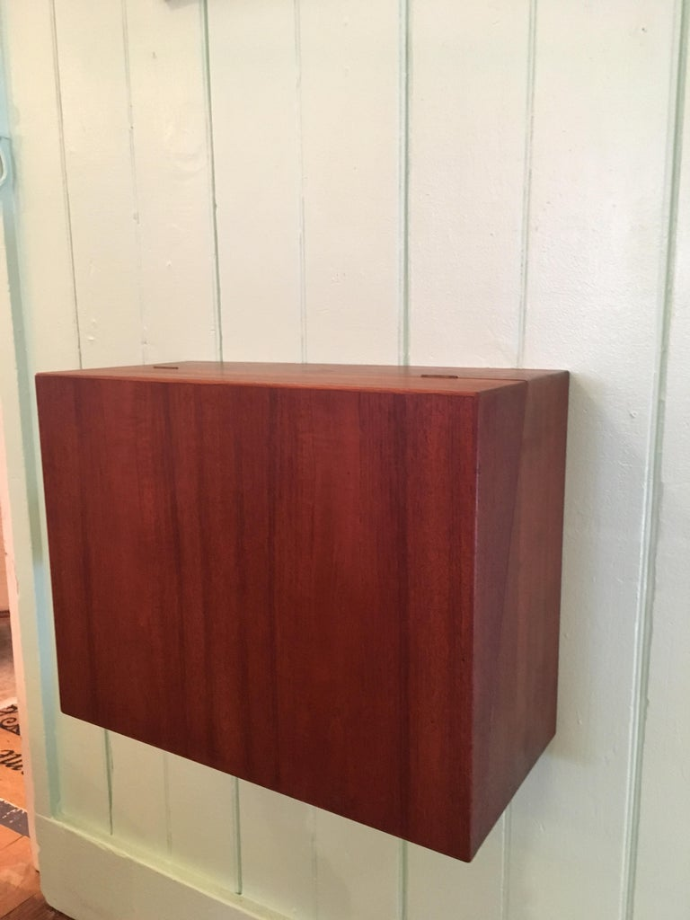 Ingenious and Rare P. Jensen & Knud Frandsen Wall Hanging Toilette Cabinet For Sale 1