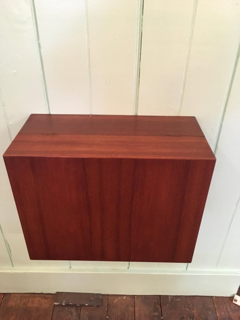 Ingenious and Rare P. Jensen & Knud Frandsen Wall Hanging Toilette Cabinet For Sale 2