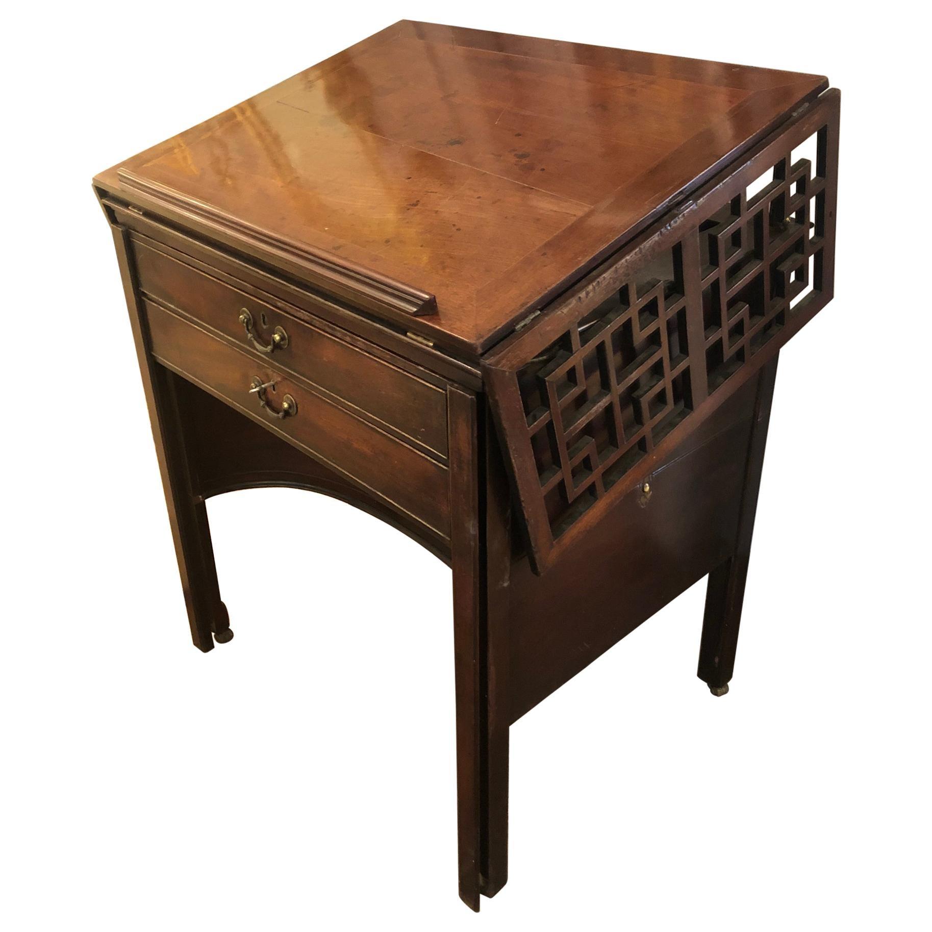 Ingenious & Rare 19th Century Mahogany Mechanical Architect's Desk