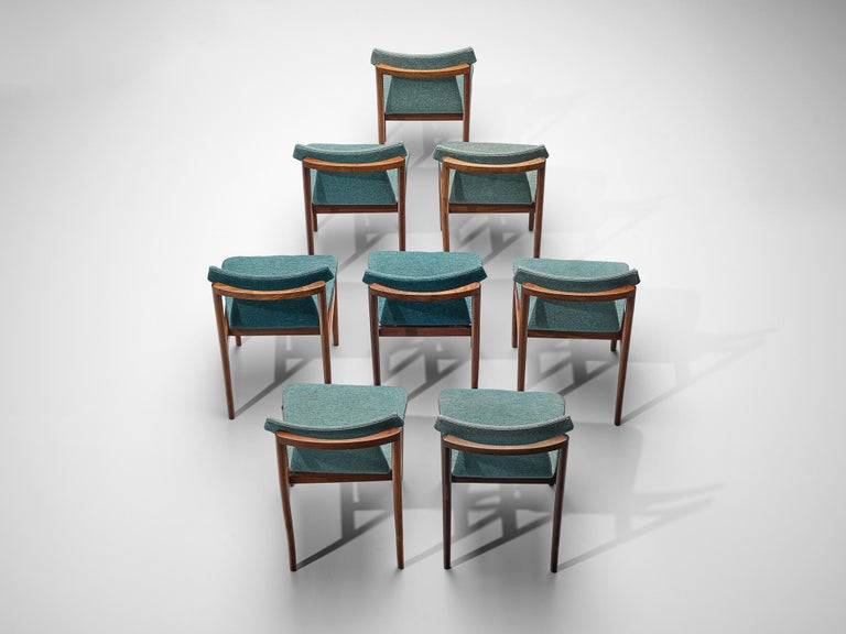 Dutch Inger Klingenberg for Fristho Set of Eight Dining Chairs