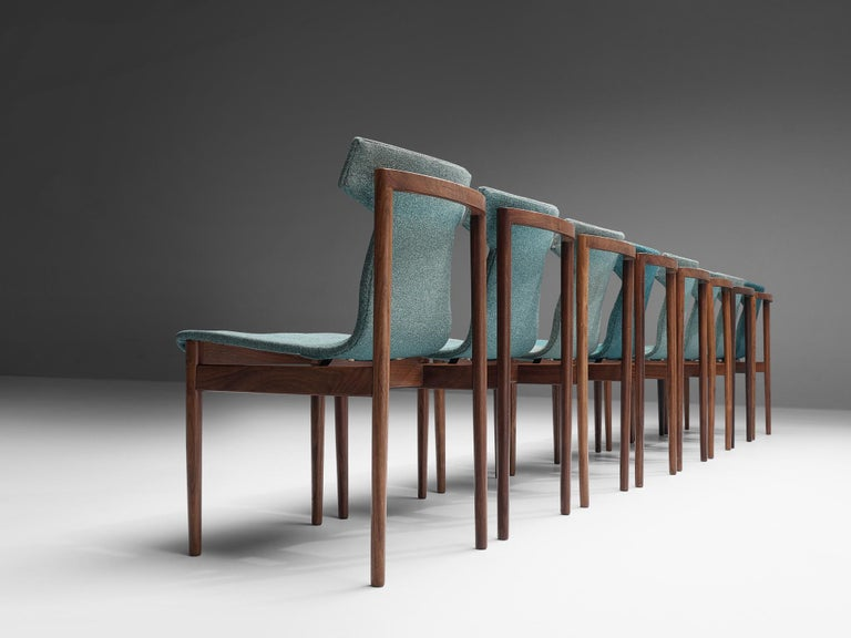 Inger Klingenberg for Fristho Set of Eight Dining Chairs  In Good Condition In Waalwijk, NL
