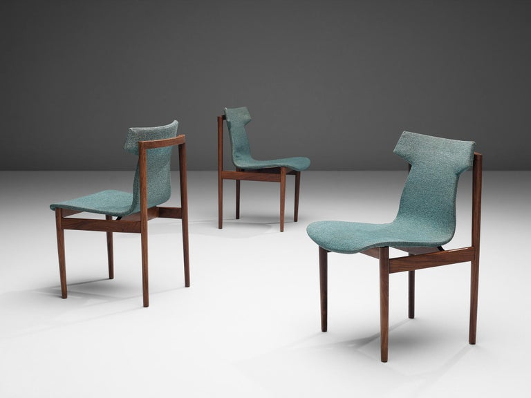 Mid-20th Century Inger Klingenberg for Fristho Set of Eight Dining Chairs