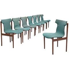 Inger Klingenberg for Fristho Set of Eight Dining Chairs in Teak