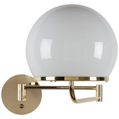 Ingersoll Adjustable Swing Arm Sconce with Milk Glass Shade by Remains Lighting