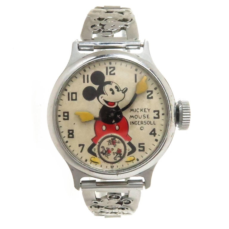 Ingersoll Mickey Mouse Manual Wristwatch with Important Provenance, 1933 For Sale