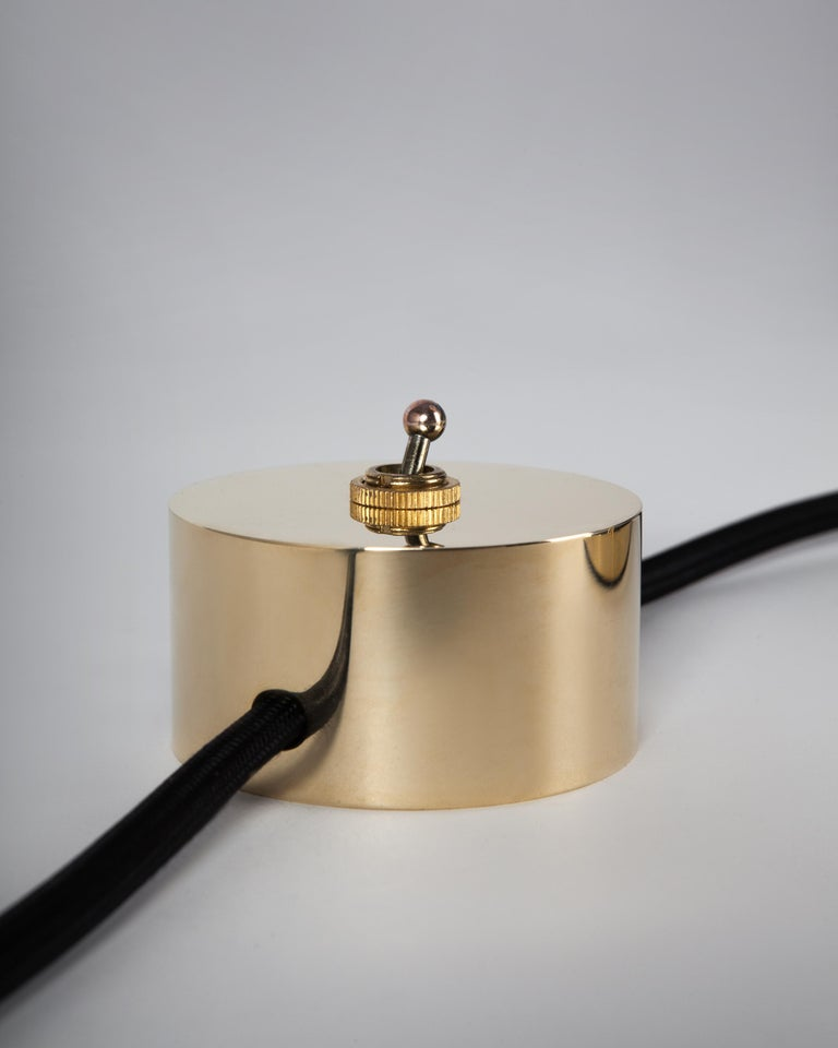 American Ingersoll Table Lamp in Polished Brass with Milk Glass Shade by Remains Lighting For Sale