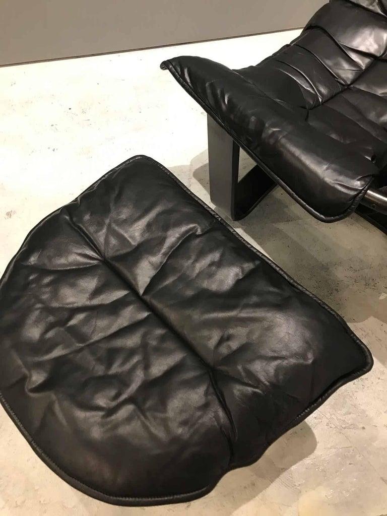 Phenomenal Ingmar Relling Black Leather Midcentury Danish Lounge Chairs And Ottoman Evergreenethics Interior Chair Design Evergreenethicsorg