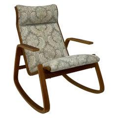 Ingmar Relling Danish Modern Bentwood Rocking Chair for Westnofa of Norway