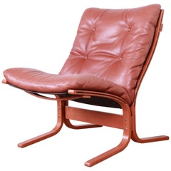 Ingmar Relling for Westnofa Bentwood Teak and Leather Siesta Lounge Chair