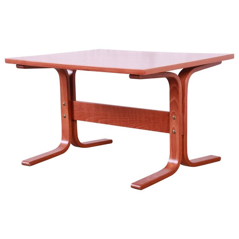Ingmar Relling for Westnofa Bentwood Teak Siesta Occasional Side Table For Sale