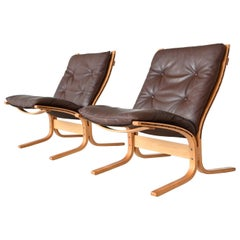 Ingmar Relling Siesta Low Back Lounge Chairs Westnofa, Norway, 1960