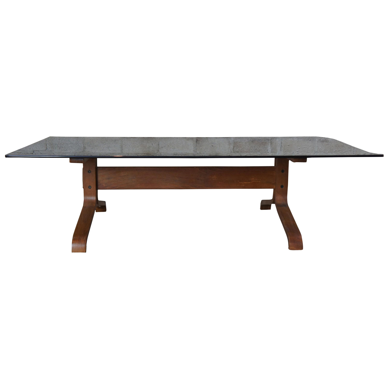 Ingmar Relling Westnofa Teak & Smoked Glass Siesta Coffee Table Rectangular MCM